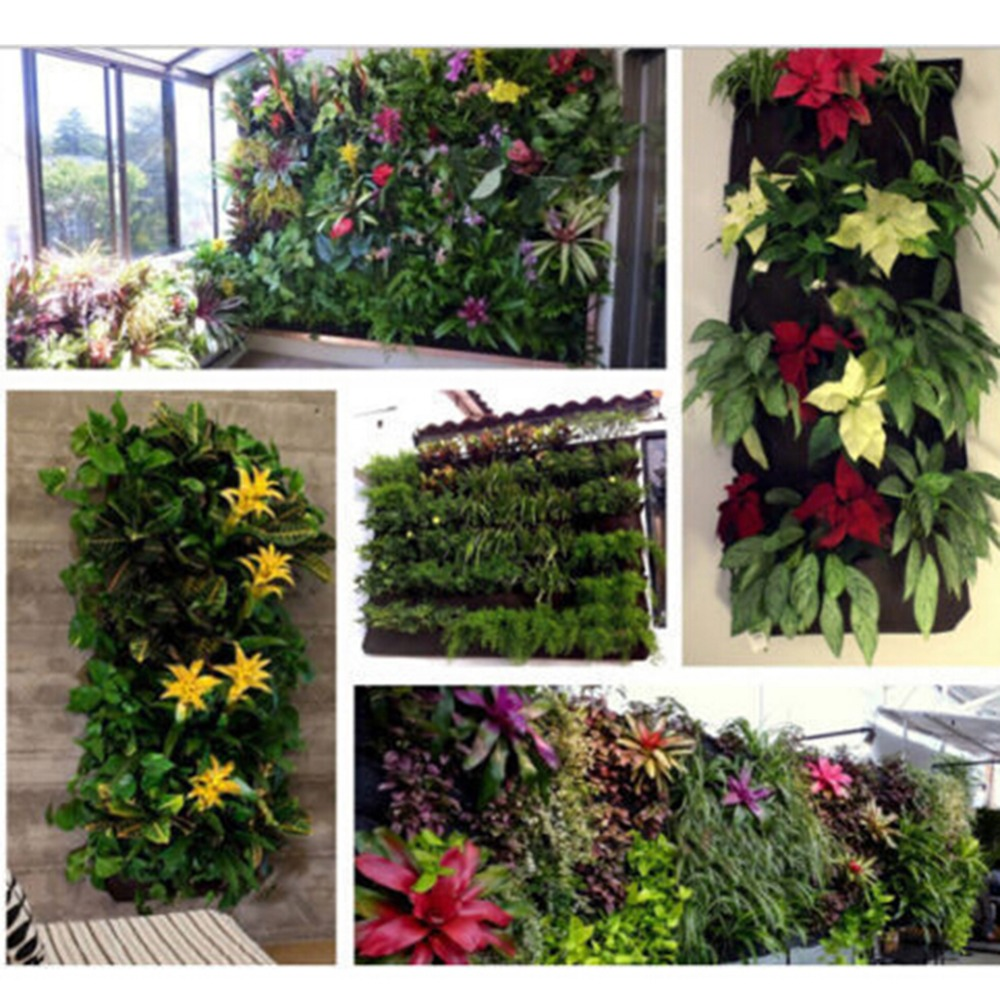 Creative 36 Pocket Outdoor Vertical Greening Hanging Wall Garden Plant Bags  Wall Planter Automatic Watering Plant Wall In Storage Boxes U0026 Bins From  Home ...