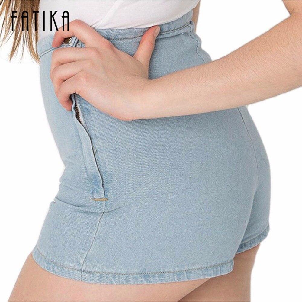 Красочные одежды новый горячий мода твердых боковой молнии высокой талии шорты женщин/тонкий джинсовые шорты для женщин ca66a