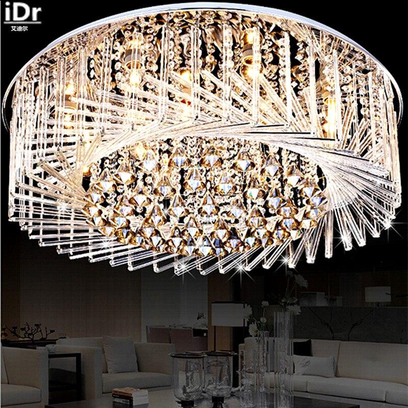 Япония Стиль гостиная светодиодные лампы кристалла спальня светильник потолочный гнездо ресторан, Освещение Потолочные светильники dia680mm