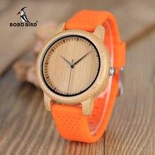 Женские часы BOBO BIRD с силиконовым ремешком, Роскошные Кварцевые часы с японским механизмом, отличные подарки для девушек и студентов