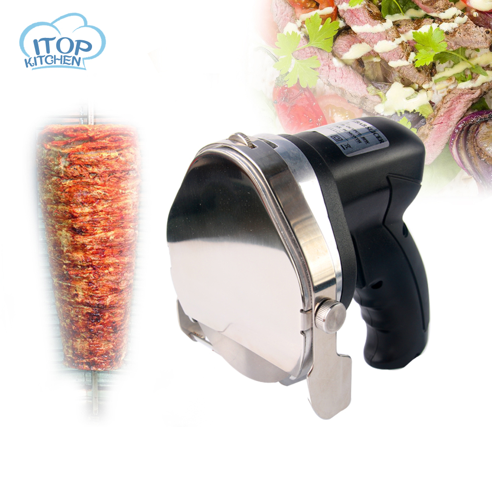 ITOP 110V/220V/240V Kebab Slicer Gyros Knife Meat Cutter Shawarma Doner Cutting Machine 0012-03