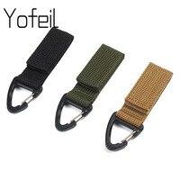 Molle-cinta de nailon táctica para acampar al aire libre, mochila de triángulo, bolsa de cintura, hebilla de gancho