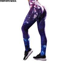 TOIVOTUKSIA 3D Printed Fitness Leggings Women Gym Training Sport