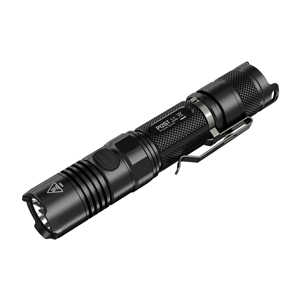 NITECORE P12GT Flashlight 2*CR123/1*18650 Battery 7 Modes CREE XP-L HI V3 LED 320m Beam Distanc Not Battery nitecore p12gt cree xp l hi v3 1000lm led flashlight 320 meter torch new i2 charger 18650 3400mah battery for search