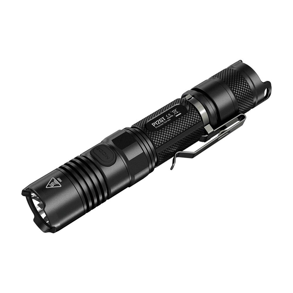 NITECORE P12GT Flashlight 2*CR123/1*18650 Battery 7 Modes CREE XP-L HI V3 LED 320m Beam Distanc Not Battery