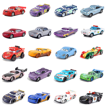 Cars Disney Pixar Cars Lightning McQueen Jackson Storm Cruz Diecast Toy Car 1:55 Loose Brand New In Stock Car2 & Car3 Child Toy image