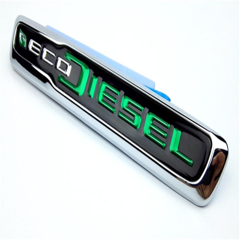 Tailgate Rear Trunk Badge Sticker ECO DIESEL Chrome Auto Emblem Car Sticker Nameplate Badge For Jeep Grand Cherokee auto chrome for 2008 2013 genesis front rear wing emblem badge sticker