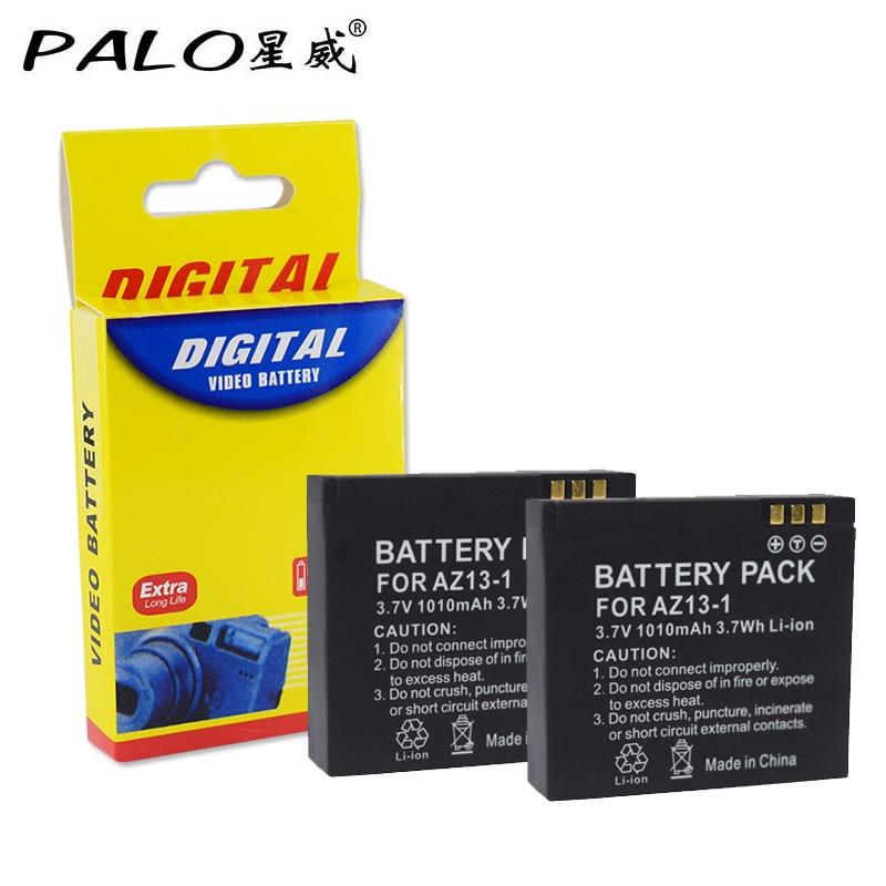 Palo 2Pcs XIAOYI AZ13 Rechargable Li-ion Battery For Xiaomi Yi Action Camera 3.7v 1010mAH Xiaomiyi Sport camera Accessories