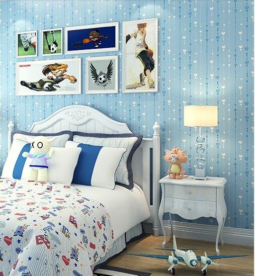 ФОТО New home decor Non-woven wallpaper decoraitvei films children room bedroom sweet fresh Mediterranean male girl wall stickers