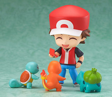 Anime Cartoopn Ash Ketchum z Charmander Bulbasaur Squirtle rysunek pcv figurka zabawki Model