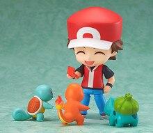 Anime cartoopn cinza ketchum com charmander bulbasaur squirtle figura pvc figura de ação brinquedos modelo