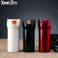 Keelorn 350 ML תרמוס ספל קפה גביע נירוסטה תה חלב בקבוק ריק ספל נגד אבק חותם המוני כוסות קפה תה מים בקבוק