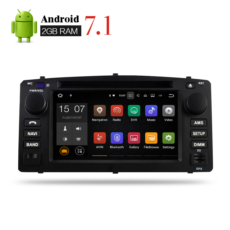 2G RAM Android7 1 Car DVD player GPS Navigation font b Multimedia b font Stereo For