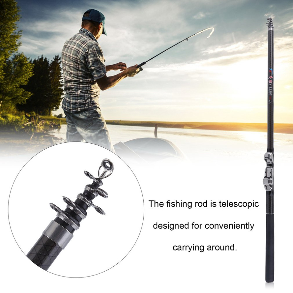 OUTAD 2.7M/3.6M Portable Metal Fishing Rod Folding Adjustable Rod Durable Telescopic Fishing Pole Fishing Tackle Tool drop shipp