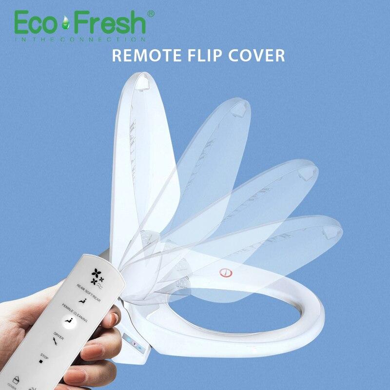 EcoFresh Inteligente assento do vaso sanitário tampa de assento auto flip inteligente Bidé Elétrica iluminação tampa assento do vaso sanitário aquecido Massagem