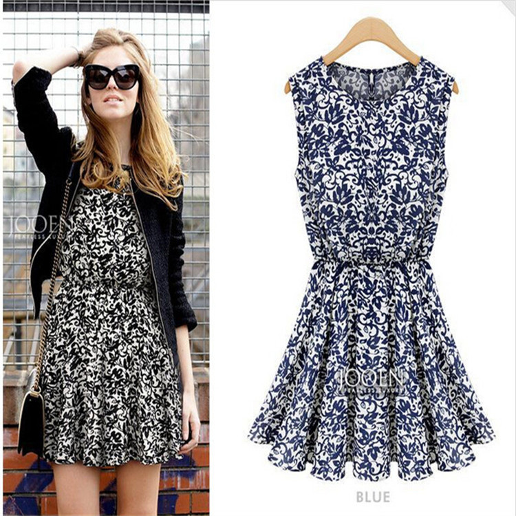 Buy Cheap Fashion Brand Women Dress Print Quality Summer Style Chiffon Tropical Casual Vestidos De Festa Femininas Summer Dress