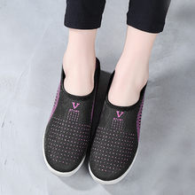 Shoes For Woman Casual Breathable Flat Shoes Classic Cotton Not Tied With Sneakers Lazy Shoes Hot Zapatos De Mujer Sapatos#10(China)