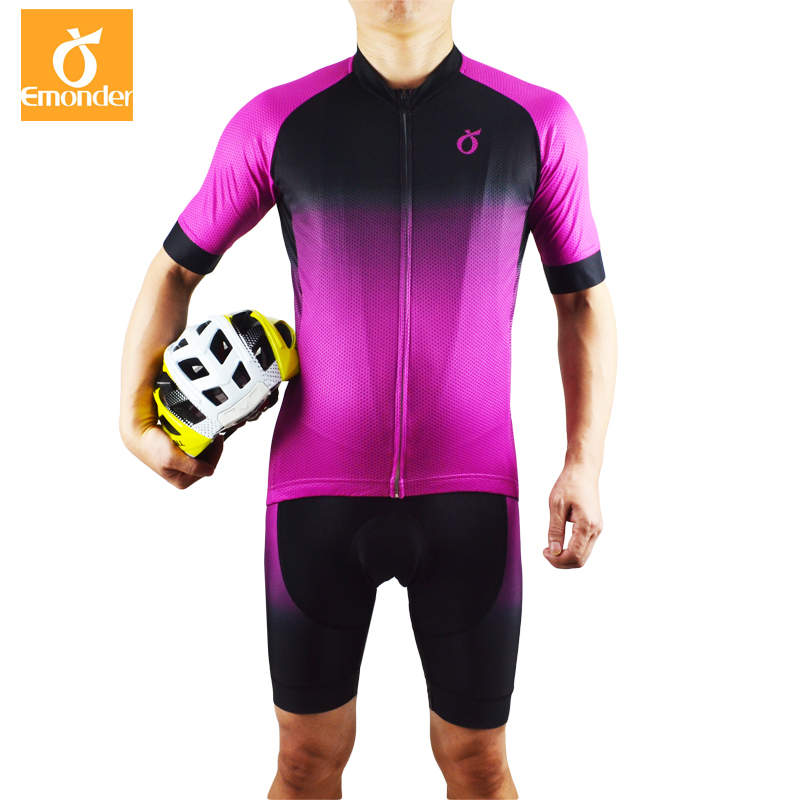New Style EMONDER Cycling Jerseys Set Mesh Breathable Cozy MTB Road Bike Racing Team Clothing Top quality 12D Padded Shorts cycling clothing rushed mtb mavic 2017 bike jerseys men for graffiti cycling polyester breathable bicycle new multicolor s 6xl
