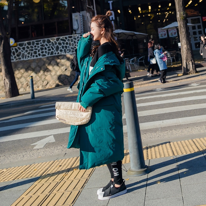 Chaud Longue Outwear Nouveau gray Hiver 2018 Étudiant Green Style Coton Femmes Hp262 Blue À Femme Occasionnel Lâche Veste Manteau Parkas Zipper Capuchon FcrqW8TF