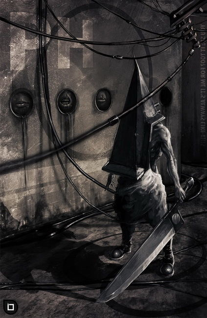 01 Silent Hill - Pyramid Head Game 14x22 Poster image