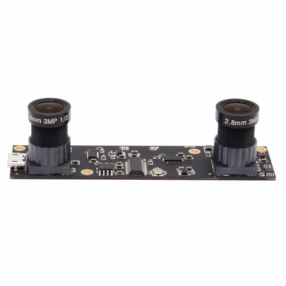 1920X1080 MJPEG AR0330 Dual M12 Lens Stereo Camera Micro Mini Industrial USB 2 0 Camera Module
