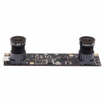1920X1080 MJPEG AR0330 Dual M12 Lens Stereo Camera Micro Mini Industrial USB 2.0 Camera Module Driverless for 3D VR Application