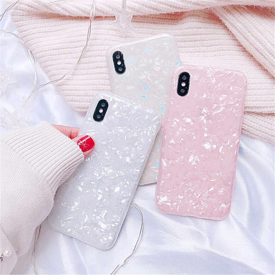 Luxe Glitter Phone Case Voor iPhone 7 8 Plus Shockproof Phone Case Voor IPhone 6 6 s 7 plus 8 plus X Dreaming Shell Soft TPU Cover