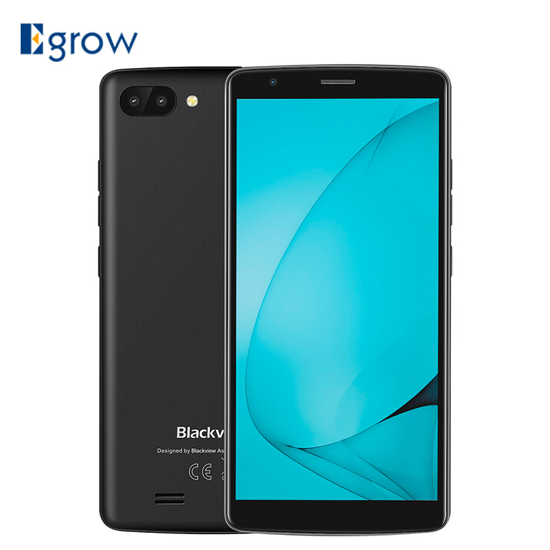 "Blackview A20 Smartphone 5.5""18:9 Screen Android GO OS MTK6580M Quad Core 1GB RAM 8GB ROM Dual Back Cameras 3000mAh GPS 3G Phone"