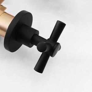 Image 3 - JIENI 8 дюймовый ультратонкий черный круглый настенный кронштейн для ванной комнаты с двойными ручками, смеситель для Дождевого душа, насадка для душа, ручной душ