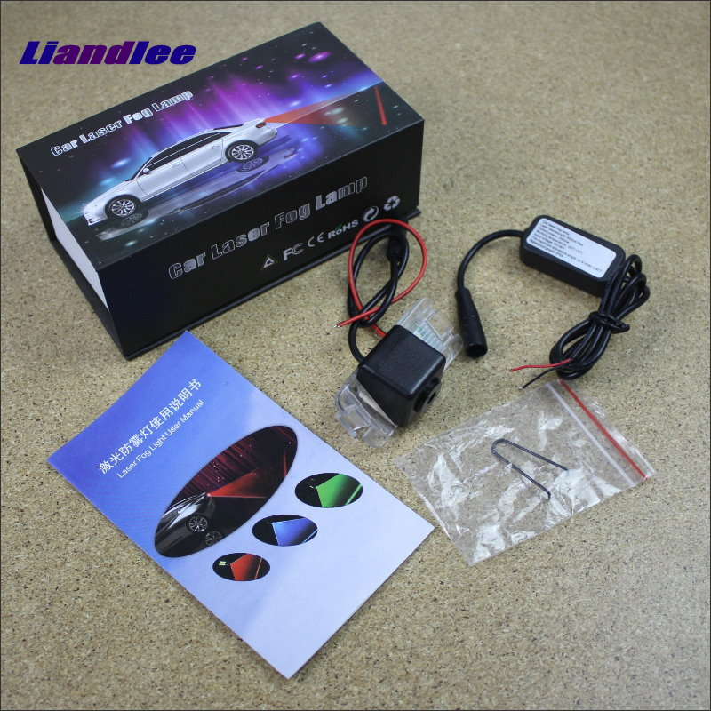 купить Liandlee Anti Collision Laser Fog Lights For Jaguar XF X250 2013 2014 Car Rear Distance Warning Alert Line Safe Drive Light недорого