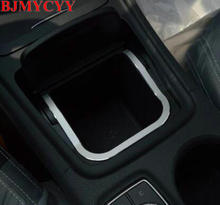 Bjmycyy для Mercedes Benz класса cla gla gla180 gla200 gla260 cla200 cla220 gla260 автомобиль центральной консоли коробка для хранения Рамки отделка