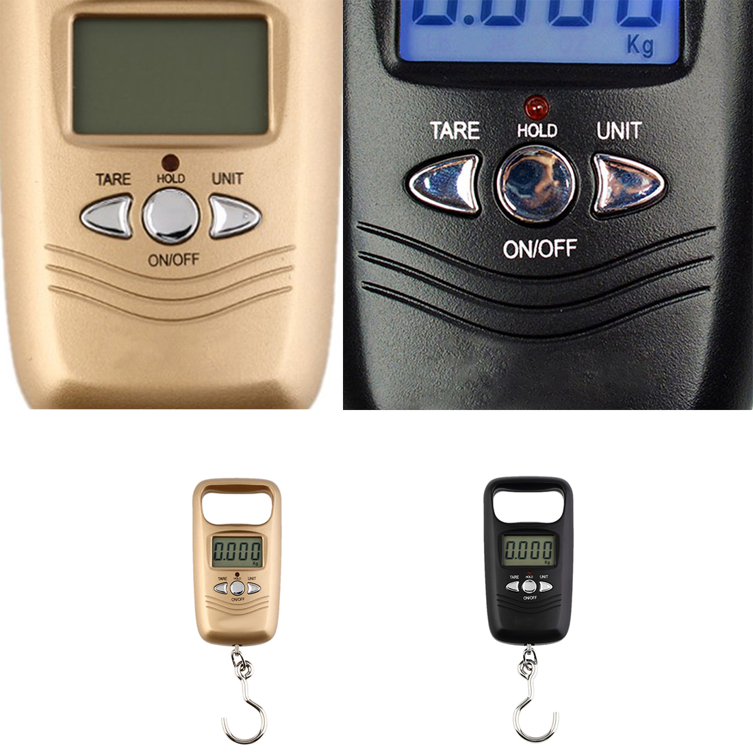 Fishing Hook Scale 50kg/1g LCD Digital Hanging Luggage Weighting Electron Pocket Portable ScaleFishing Hook Scale 50kg/1g LCD Digital Hanging Luggage Weighting Electron Pocket Portable Scale