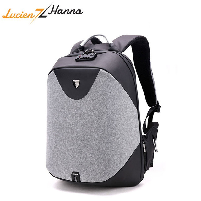 New Anti Theft 15.6 Laptop Men Bag School Password Lock Backpack USB Charging Waterproof Casual Business Travel Male Backpacks