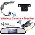 3 в 1 Авто Беспроводной Парковка 4.3 Цифровой TFT LCD Автомобиля Зеркала зеркало Монитор с HD Mini CCD Автомобиля Камера заднего вида Резервного копирования система