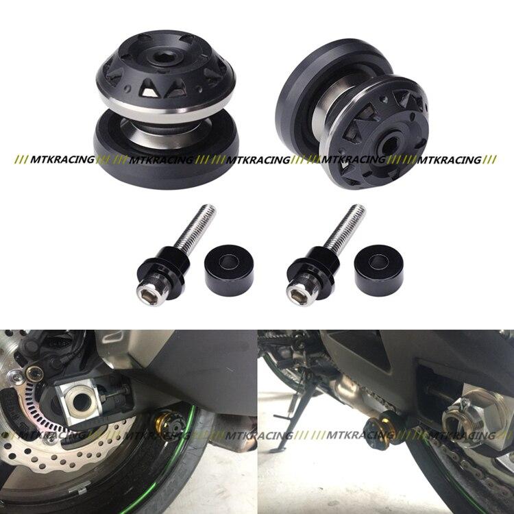 The latest Motorcycle Accessories CNC Aluminum Swingarm Sliders Spools 8mm For Suzuki HAYABUSA GSXR1300 1999-2015