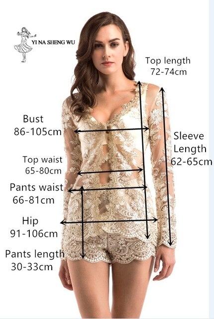Women adult Translucent clothes 2-pieces set Jacket+short pant Sexy lady Party Nightclub High quality dinner Club Ballroom Dress 6