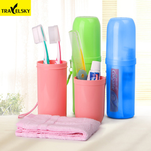 Travel Set wash cup portable storage box Toothbrush Cup Tumbler men and women travel essential TRAVELSKY 16217A/B Free shipping