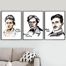 Marie Curie Michael Faraday Nikola Tesla Wall Art Canvas Painting Nordic Posters And Prints Pictures For Living Room Decor