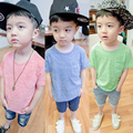 Новый летний Высокое качество хлопка рубашки с коротким рукавом мальчиков майка чистые цвета дети футболки для мальчиков топ мягкой детей Tee