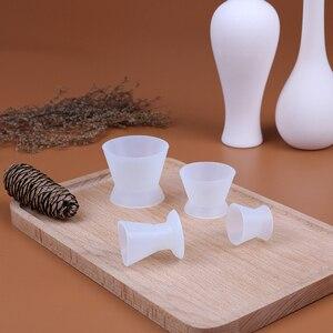 Image 2 - 4 pçs/pçs/set tigelas de mistura de silicone laboratório dental s/m/l tamanho copo de mistura auto solidificação copos dentista dental equipamentos médicos tigela