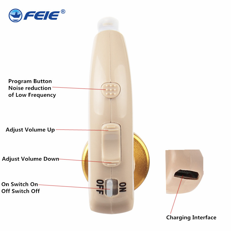 Rechargeable BTE Hearing Aid for The Elderly / Hearing Loss Sound Amplifier Ear Care Tools Ear Apparatus Deaf Equipment S-130 analog hearing aid bte hearing amplifier ear aid for the elderly deaf hearing loss compared to siemens hearing ear care s 303