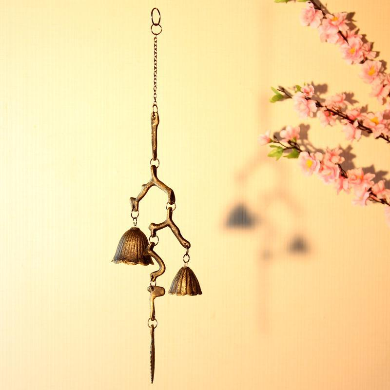 Bronze Color Branch Shaped Metal Wind Bells Home Decorative Japanese Style Beautiful Wind Chime Corridor Balcony Decoration