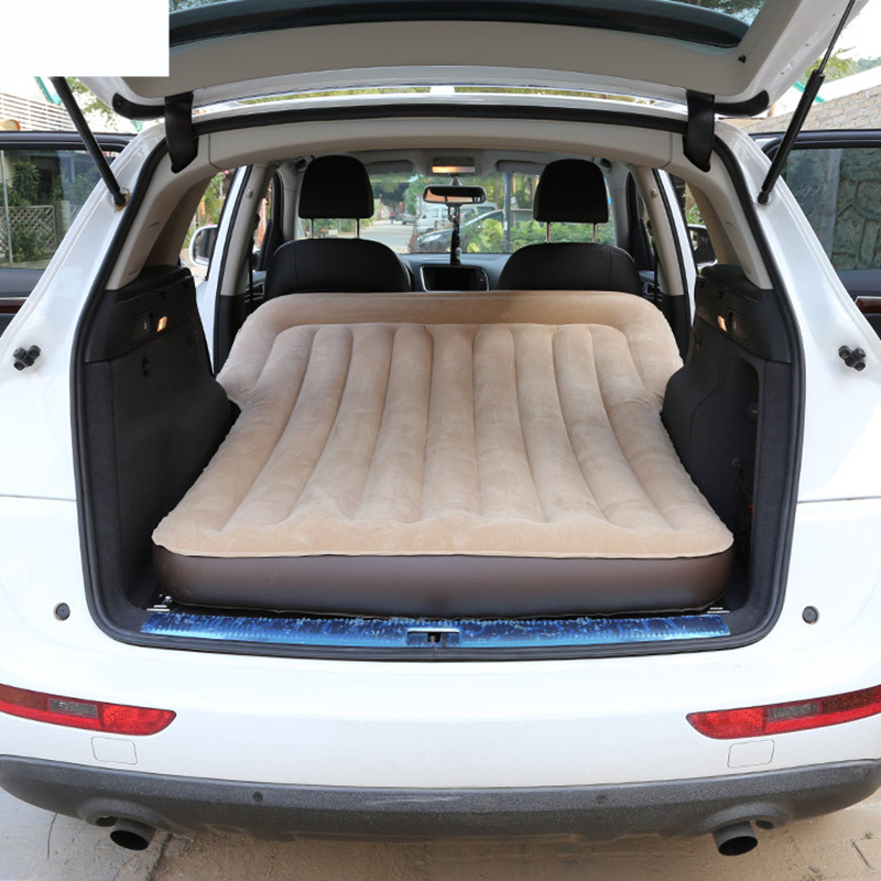 Car Travel Bed Camping Car Bed Car Mattress Inflatable Bed Flocking Air Mattress With Pump SUV Universal Rear Compartment image