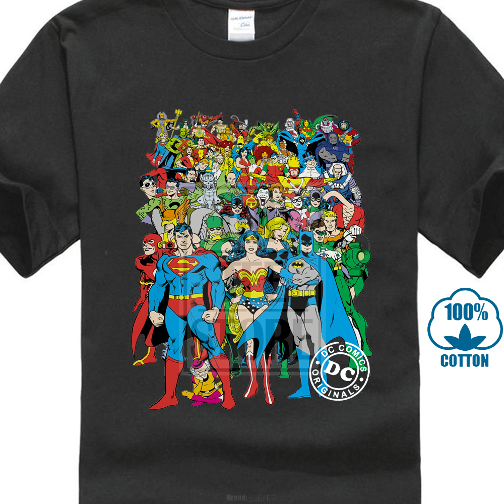 Justice League Original Crew Licensed Adult   T     Shirt