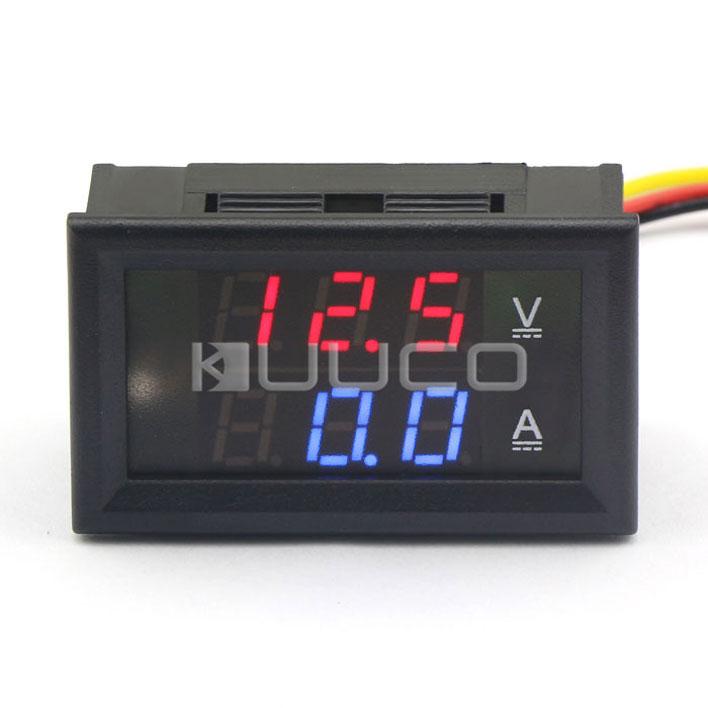 Measurement & Analysis Instruments 2in1 Tester Dc 4.5~30v/50a Digital Voltmeter Ammeter/panel Meter Dc 12v 24v Red Led Dual Display Voltage Current Meter