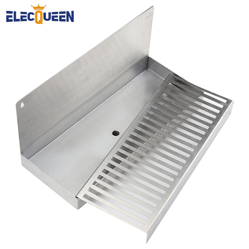 Beer Drip Tray Stainless Steel 304 Wall Mount Drip Tray With Hole Drain Drainer At The Bottom Kegging Equipment Homebrew Supply Drip Tray Keg Equipmenthomebrew Supply Aliexpress