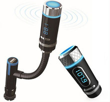 Wireless Bluetooth FM Transmitter With Car Charger Adapter Cigarette Lighter for smartphone And Bluetooth Device