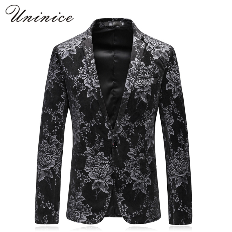 2017 New Autumn Mens Korean Style Casual Suit Chinese Style Suit Youth Jacquard Suit Bla ...