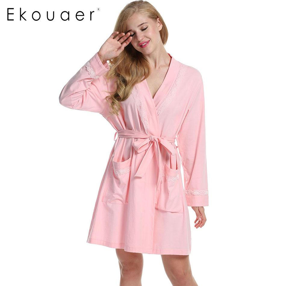 EZ-Joyce Mens Long Hooded Bathrobe Soft Flannel Spa Robe Fleece Shawl Kimono
