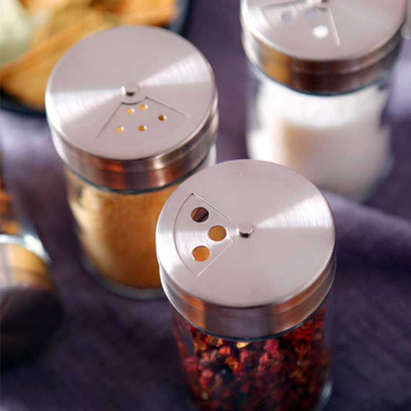 Épices assaisonnement Pots poivre Pot bouteille assaisonnement épices Rack Pots stockage Pot sel Condiments cuisine fournitures verre